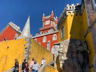 Pena Palace. You have expect to see Snow White dancing with the Seven Dwarves or Rapunzel letting her hair down out of a tower